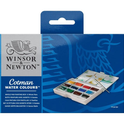 W&N Cotman Watercolours Whole Pan Painting Box