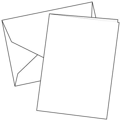 Cards Single Fold A5 White 100 Pk