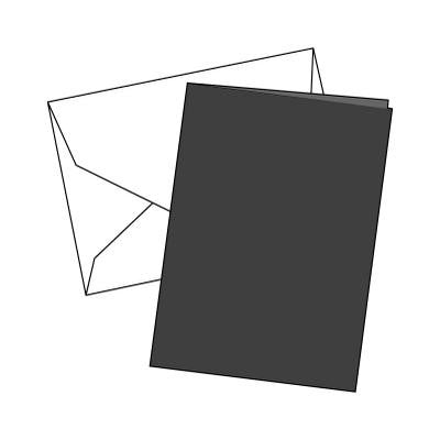 Cards Single Fold A6 Black 10 Pk