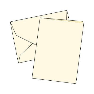 Cards Single Fold A6 Cream 10 Pk