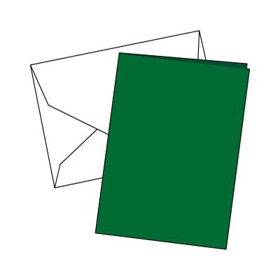 Cards Single Fold A6 Dark Green 10 Pk