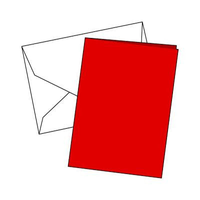 Cards Single Fold A6 Red 10 Pk