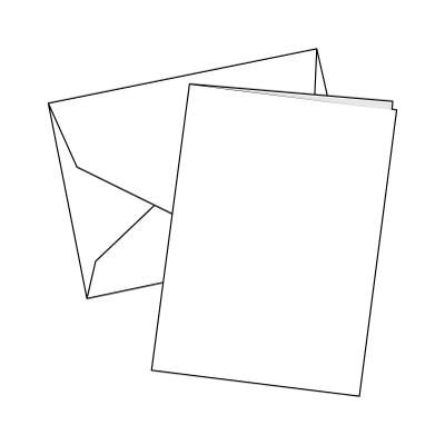 Cards Single Fold A6 White 100 Pk