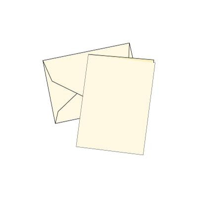 Cards Single Fold Mini Cream 100 Pk