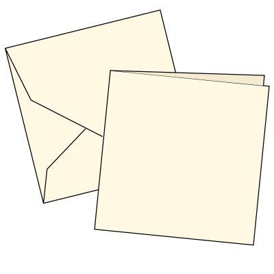 Cards Single Fold SQUARE (144 x 144 mm) Cream 100 Pk