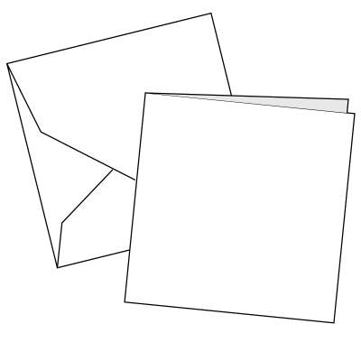 Cards Single Fold SQUARE (144 x 144 mm) White 100 Pk