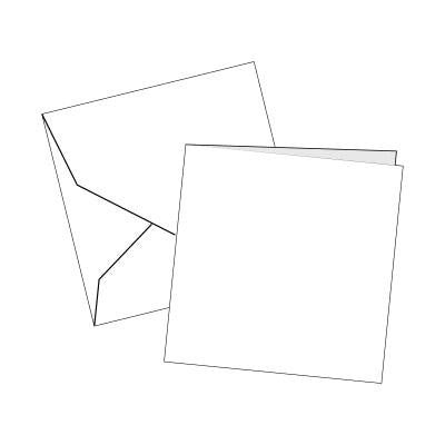 Cards Single Fold SMALL (115 x 115 mm) Square White 100 Pk