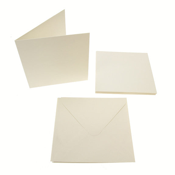 Square Card Blanks 300gsm 10Pk - Cream