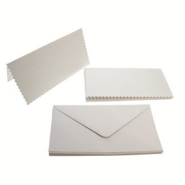 Tall Scalloped Card Blanks 300gsm 12Pk - White