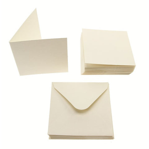 3x3 Card Blanks 300gsm 20Pk - Cream