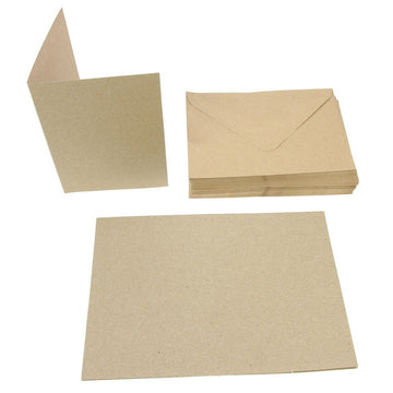 A6 Card Blanks 50Pk - Recycled Kraft