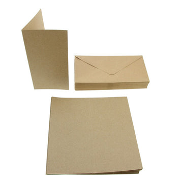 Tall Card Blanks 50Pk - Recycled Kraft