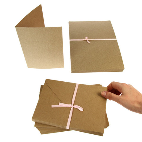 5x7 Card Blanks 50Pk - Recycled Kraft