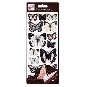 Dimensions Sticker Butterflies White