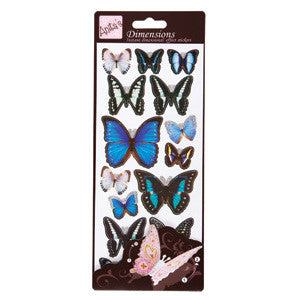 Dimensions Sticker Butterflies Blue