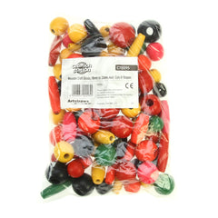 Wooden Craft Beads 18mm - 30mm 240g