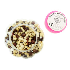 Barrel Of Wooden Beads 500 Pack