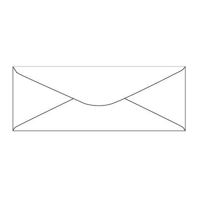 Envelopes Slim White 40 Pack
