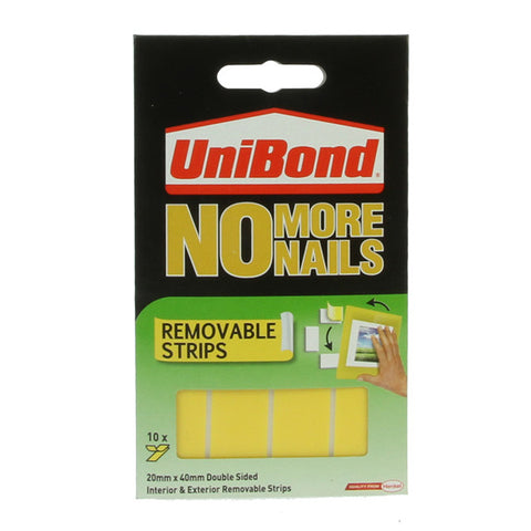UniBond No More Nails - Removable Strips 10 Pack