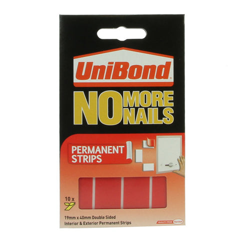 UniBond No More Nails - Permanent Strips 10 Pack