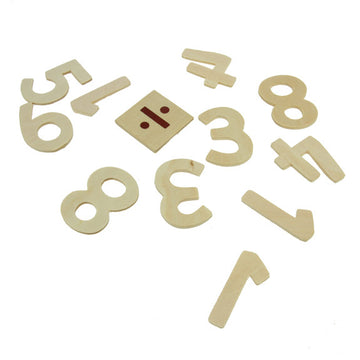 Wooden Numbers - 35pk