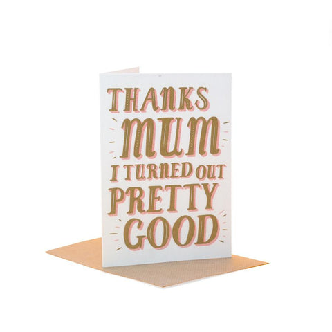 Thanks Mum - Fred Aldous Card