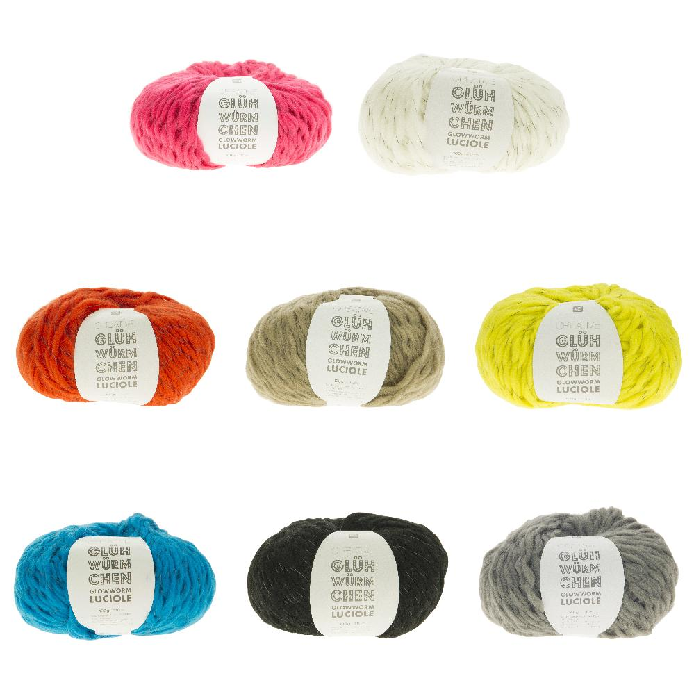 Rico Glowworm Wool - 8 Colours