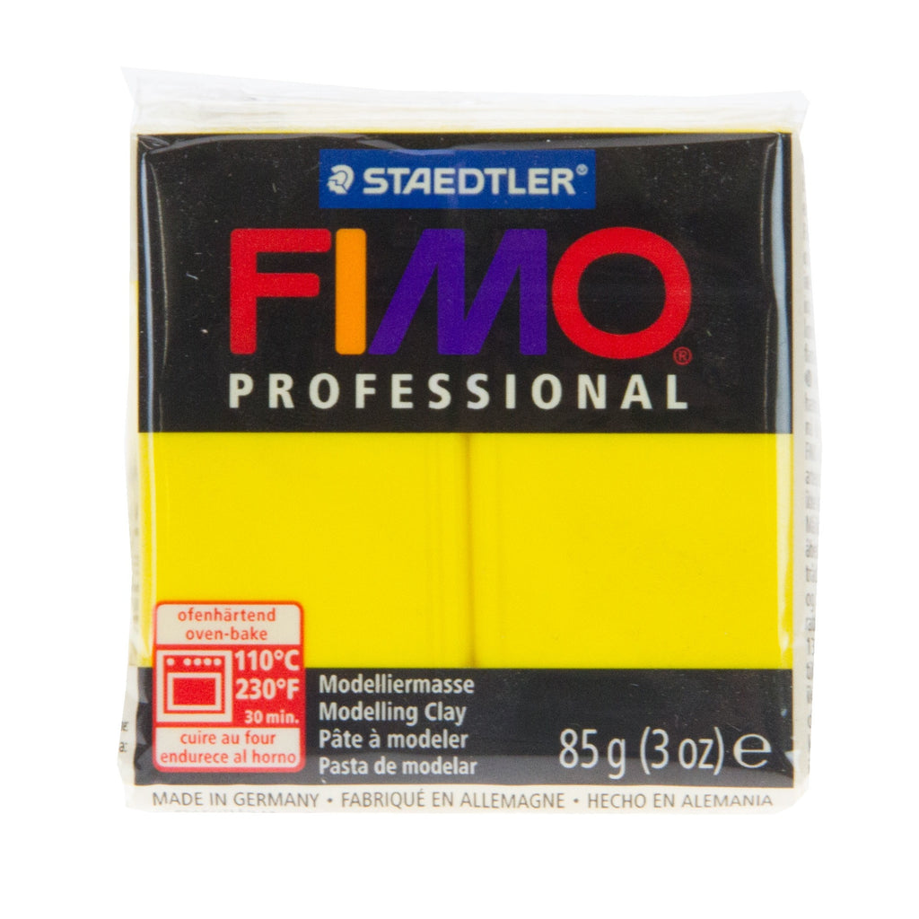 Fimo Professional 85g Block True Yellow