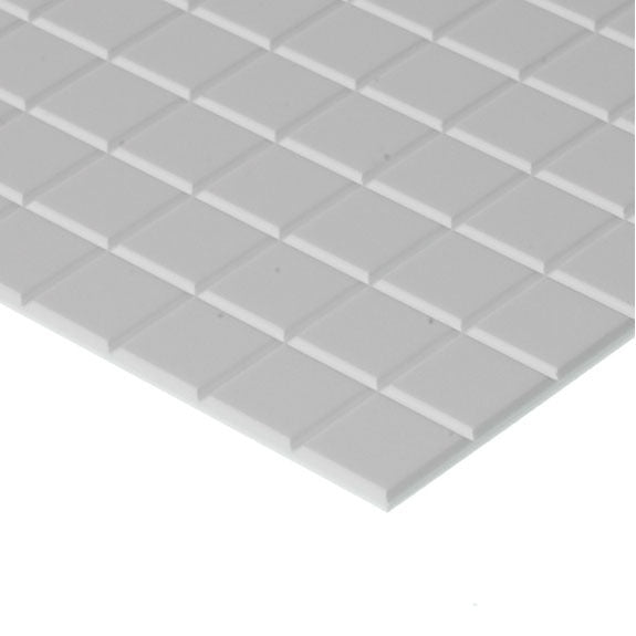 "Evergreen Styrene Tile 6.3mm Squares (1/4"")"