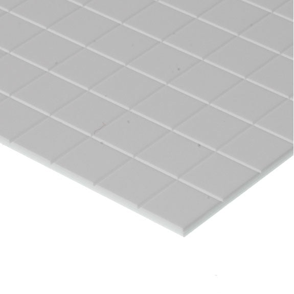 "Evergreen Styrene Sidewalk 6.3mm Squares (1/4"")"