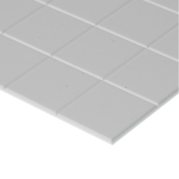 "Evergreen Styrene Sidewalk 12.7mm Squares (1/2"")"