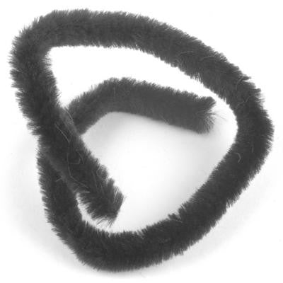 Chenille 12mm Black - 10 Pk aka Pipe cleaner