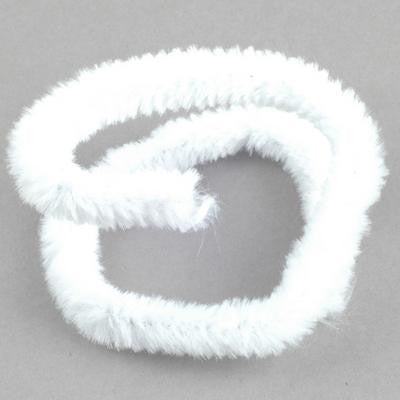 Chenille 12mm White - 10 Pk aka Pipe cleaners