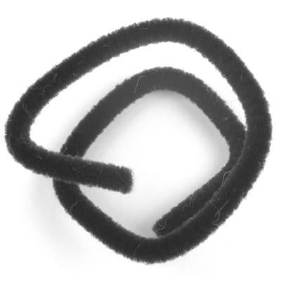 Chenille 6mm Black - 20 Pk aka Pipe cleaner