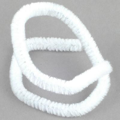 Chenille 9mm White - 15 Pk aka Pipe cleaners