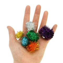 Glitter Poms - Assorted 100 Pack