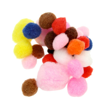 Pom Poms - Assorted 100 Pack