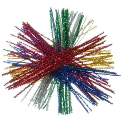 Tinsel Pipe Cleaners Astd 100 Pack
