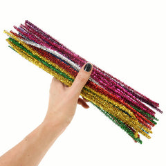 Tinsel Pipe Cleaners 40 Pack