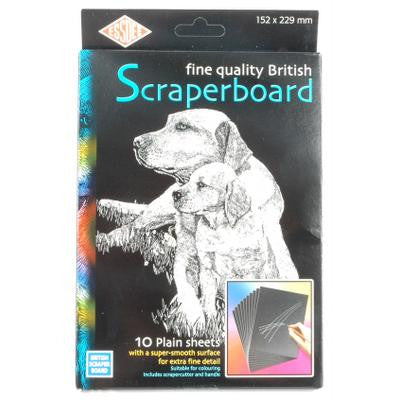 Scraperboard Black 229mmx152mm