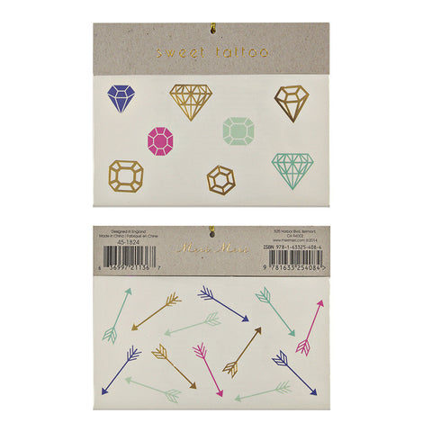 Meri Meri Gems & Arrows Tattoos
