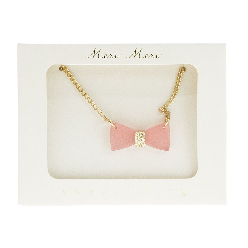 Meri Meri Glitter Bow Necklace
