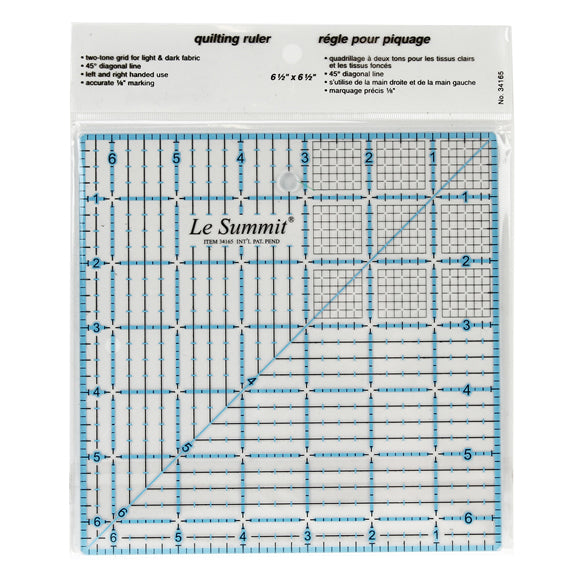 Le Summit Quilting Ruler - 6.5 x 6.5""