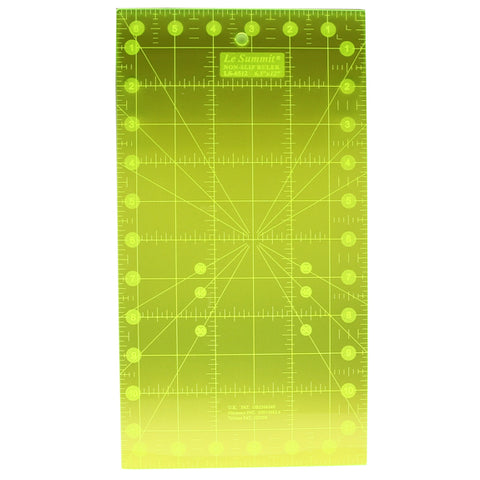 Le Summit Non-Slip Fluorescent Quilting Ruler - 6.5 x 12""