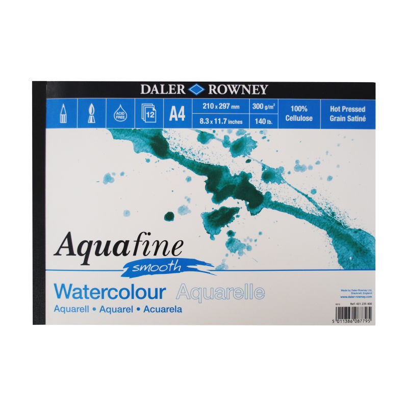 Daler Rowney Aquafine Smooth Watercolour Paper A4