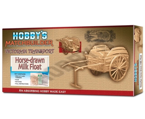 Horse Drawn Milk Float Matchstick Kit