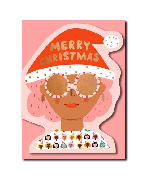 Christmas Party Girl Card