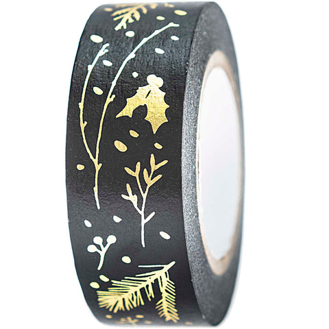 Rico Washi Tape Branches Black