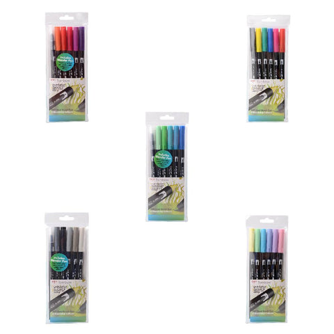 Dual Brush Pens - 6 Per Pack