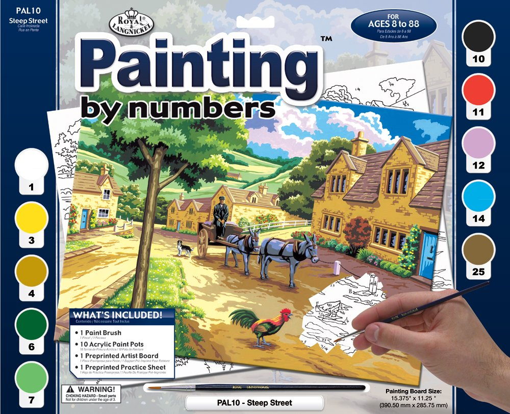 Paint By Numbers Adult Large - Steep Street